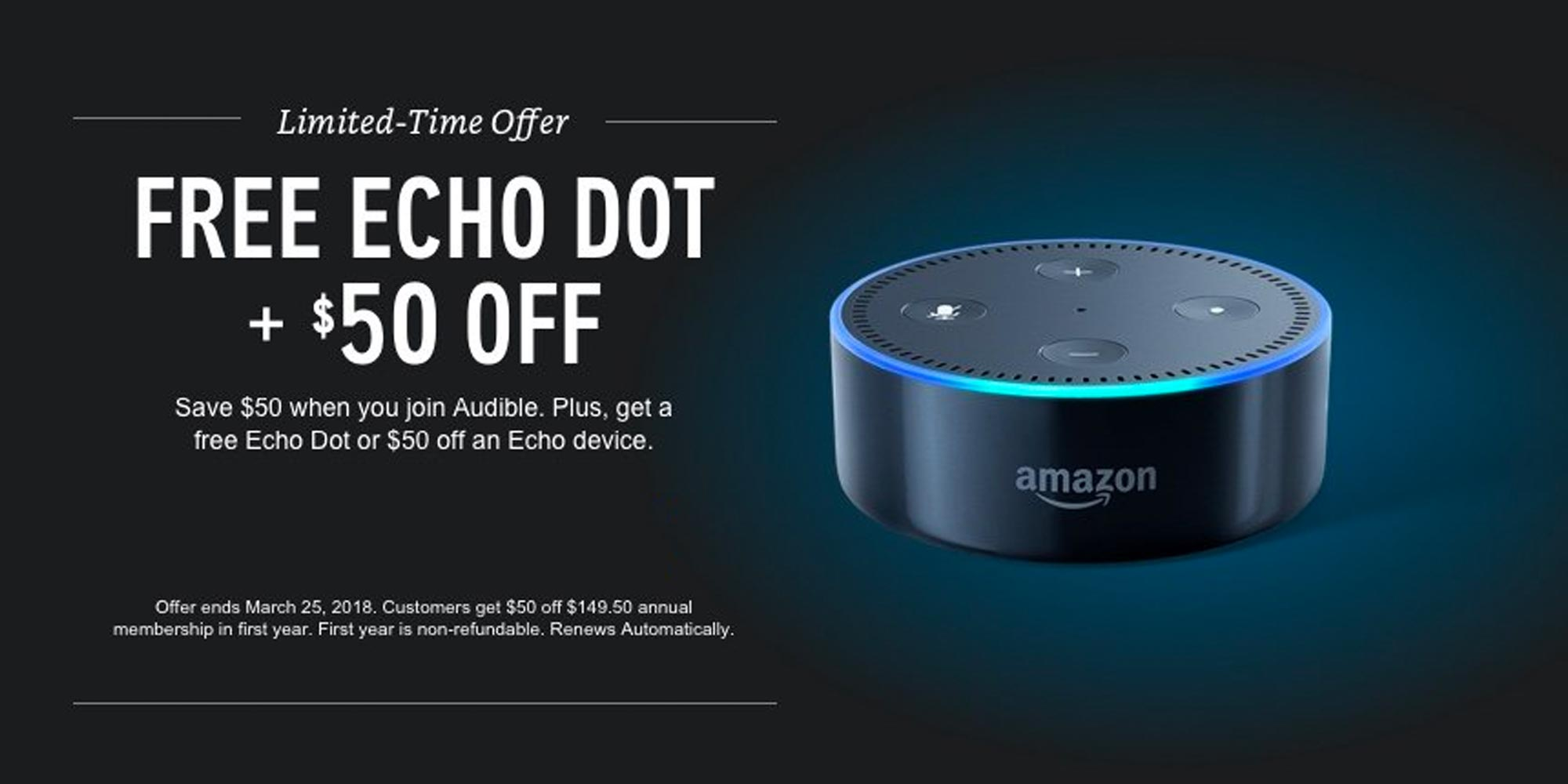 Amazon Audible Cancel Membership Get 12 Audio Books On Audible Free Echo Dot For Just 100 200