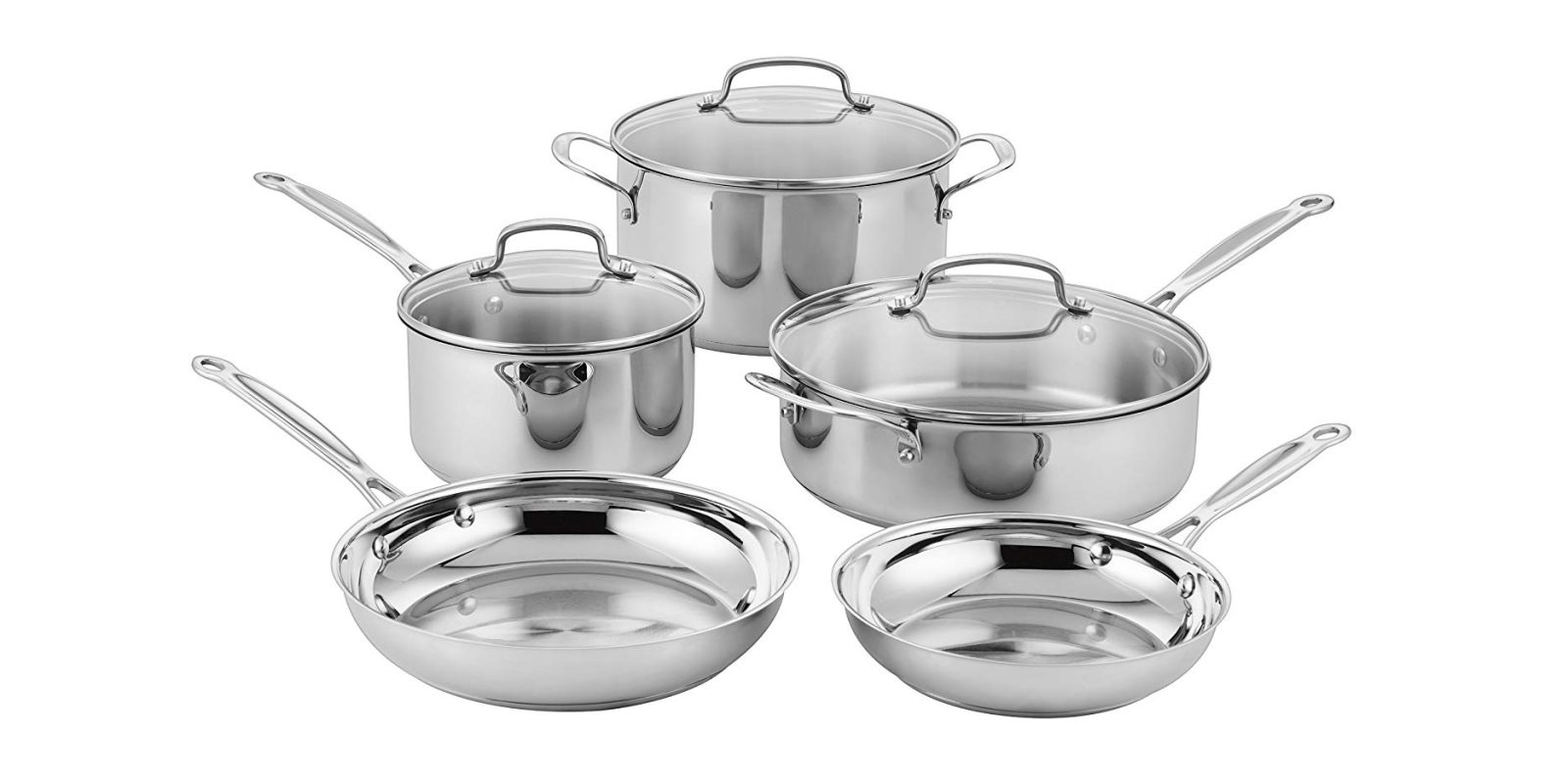 Amazon Cuisinart Stock Pot Cuisinarts 8 Piece Stainless Steel Cookware Set Now 100