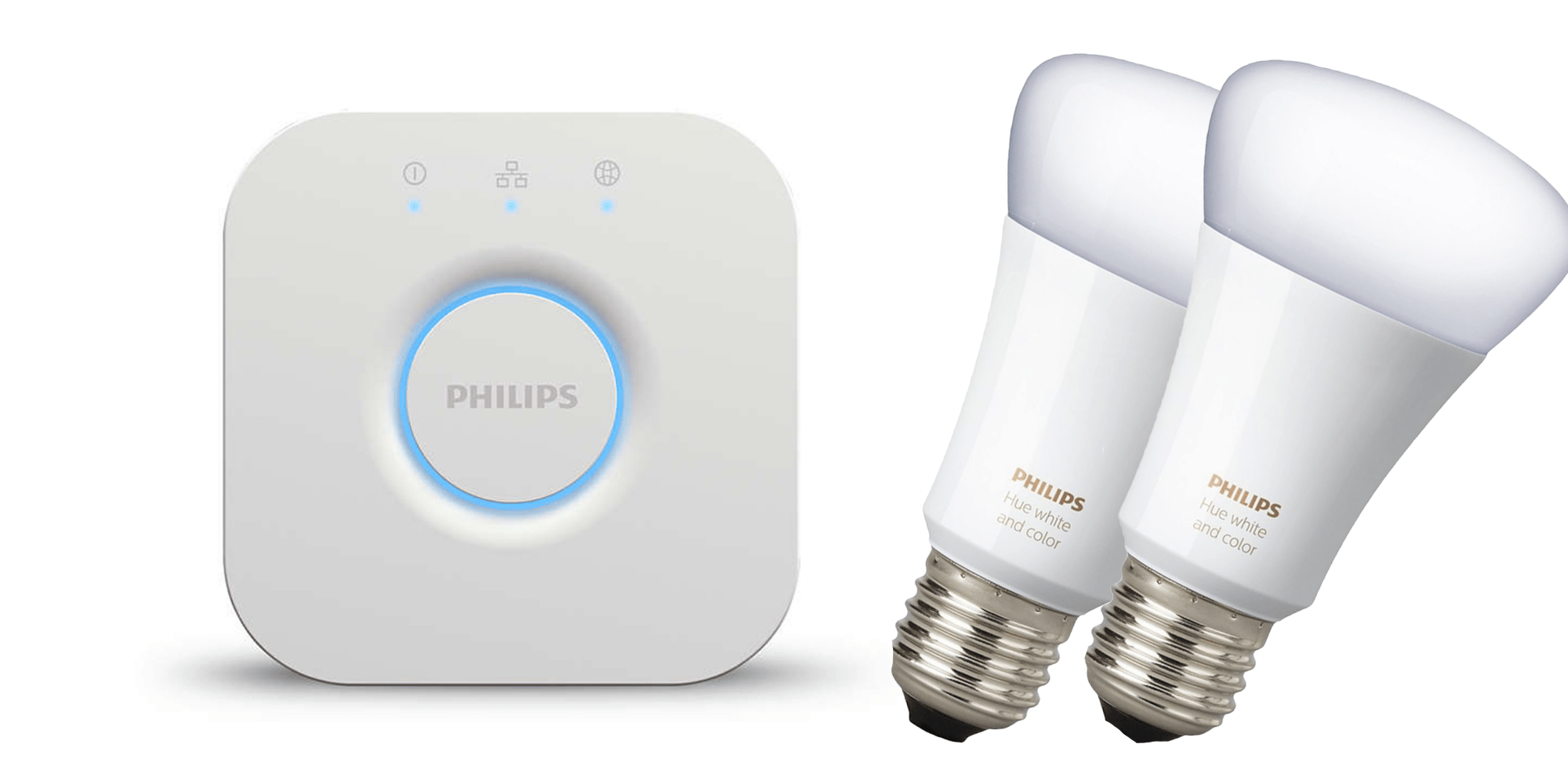 Philips Hue Bridge Homekit Philips Hue Color Starter Kit Includes Two Led Bulbs And The