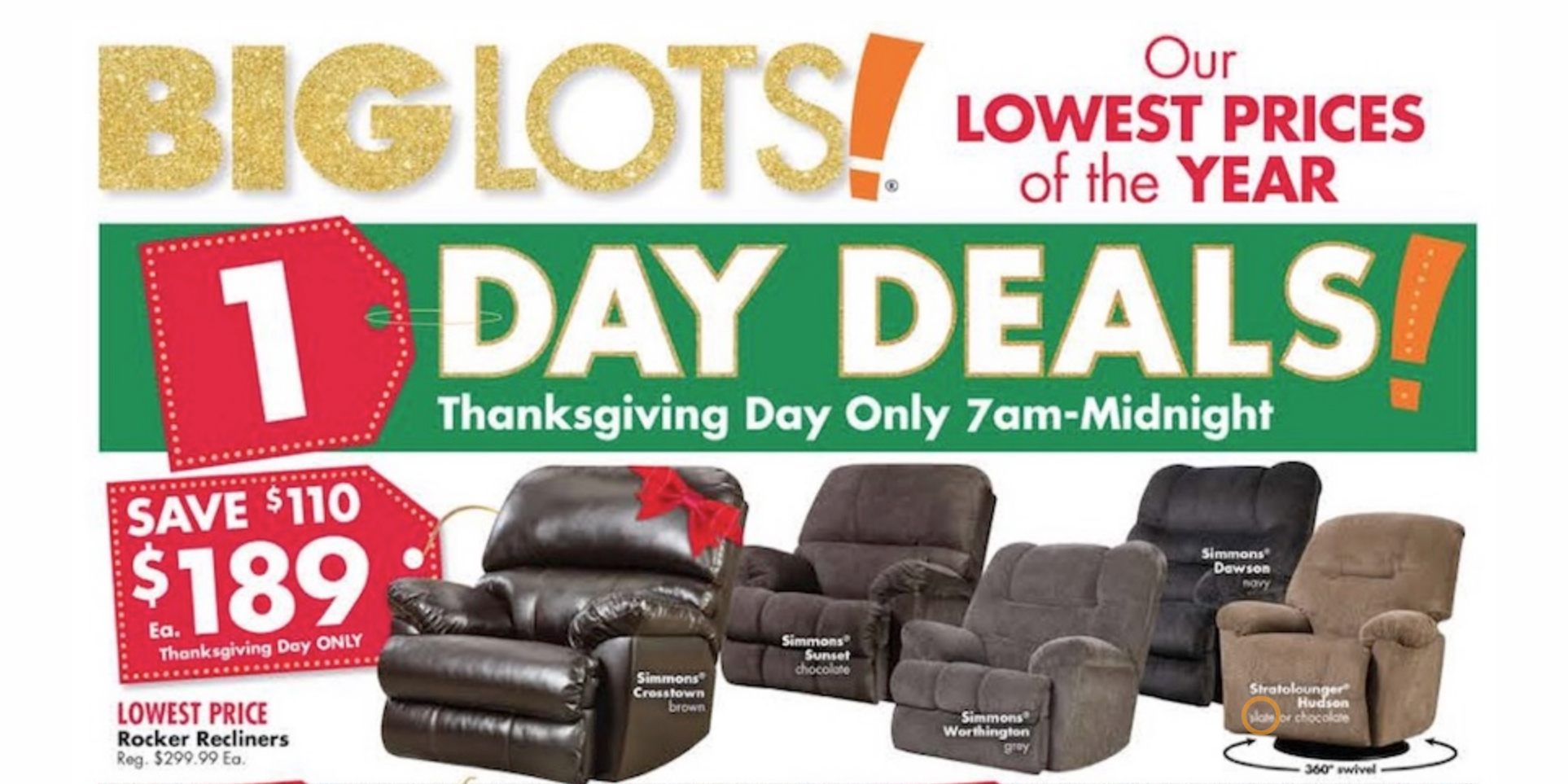 Big Lots Big Lots Black Friday Ad Reveals Thanksgiving Day Sale More