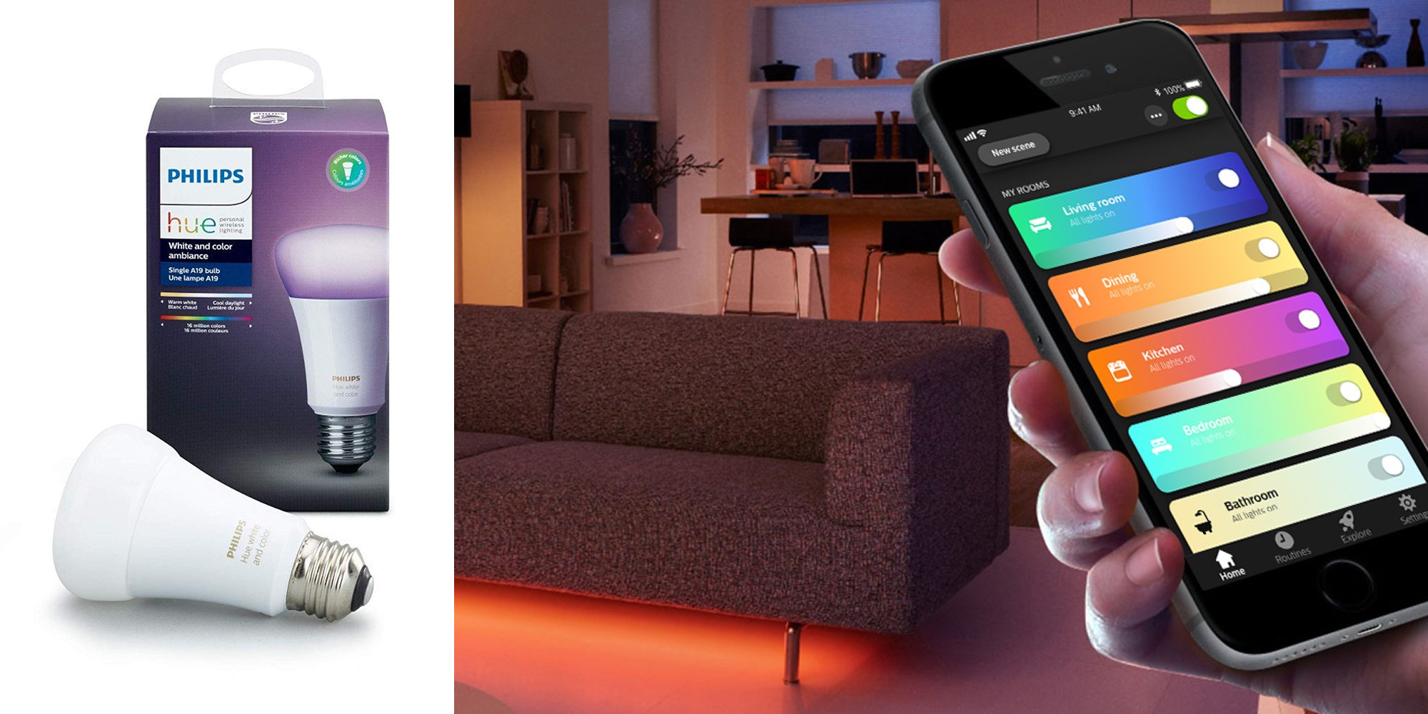 Philips Hue Led Light Philips Hue Smart Color Light Bulb Drops To Lowest Price Since The