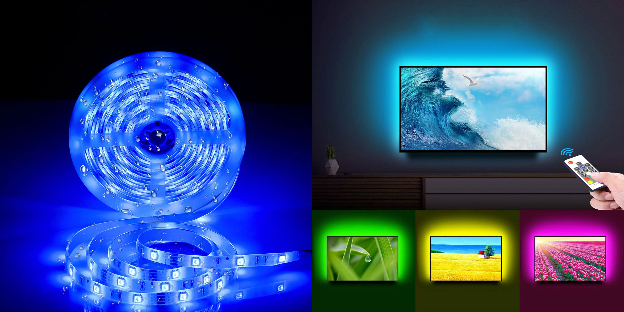 Led Light Strips Rgb For Just 21 You Can Add This Smart Rgb Led Light Strip To Any Room