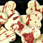 Bloody bones sugar cookies recipe for Halloween or The Walking Dead Season 7 premiere on October 23rd
