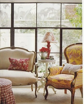 yellow and red living room - pinterest