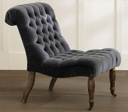 TUFTED SLIPPER CHAIR williams sonoma inc