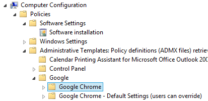 Deploy Google Chrome for Work with Group Policy