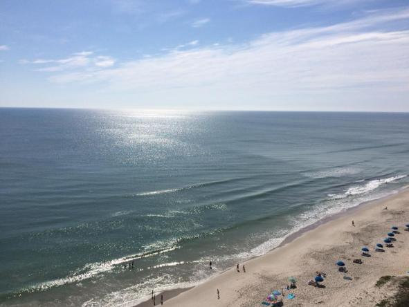 The view from my balcony at the Radisson Suite Hotel Oceanfront