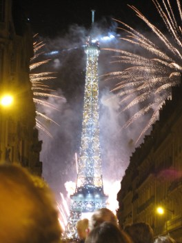 Bastille Day Fireworks viewed from Place de Mexico