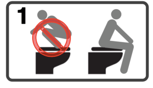 Kyoto's bathroom instructions