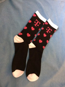 My sweetie got me these funky T-Mobile socks for Valentines Day