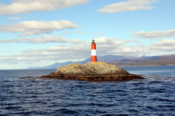 Lighthouse in Ushuaia Beagle Channel