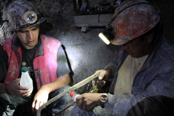 "To get a sense of miner culture, we went to their underground ""church Potosi Mine Tour"