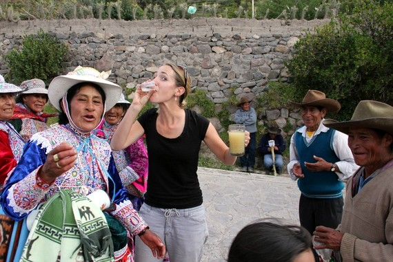 Dance party in Colca Canyon Peru