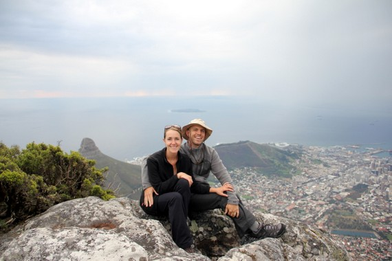 Mike &amp; Anne Howard on Table Mountain in Cape Town, South Africa