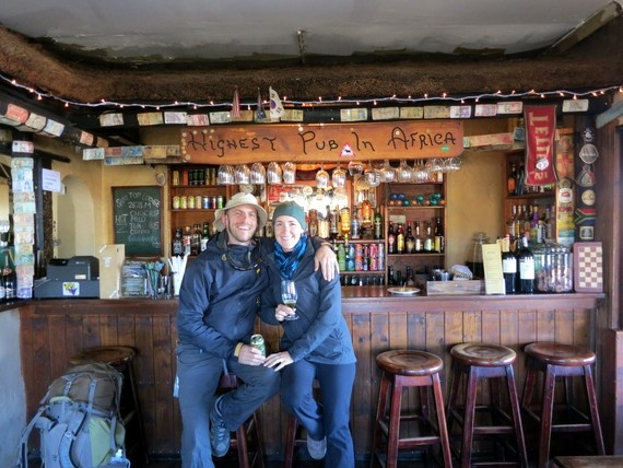 You can sip your beverage of choice from the highest pub in the entire continent of Africa, Lesotho