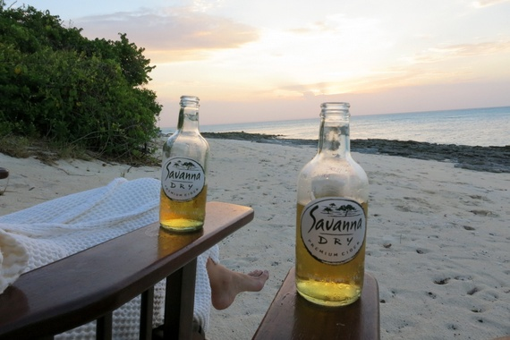 Savanna Dry sun-downers on Medjumbe private island