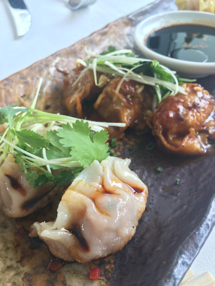 Scallop Siu Mai, Pork Potsticker, Lobster Springroll, Chicken Dumpling ...