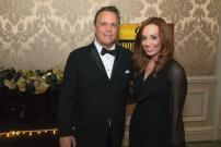 Emcee Richard Roeper and Nina Laski | Photo by Elliot Mandel