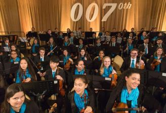 Symphony Orchestra students prepare to perform | Photo by Elliot Mandel