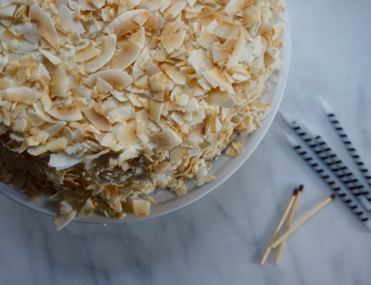 Coconut + Vanilla Bean Birthday Cake