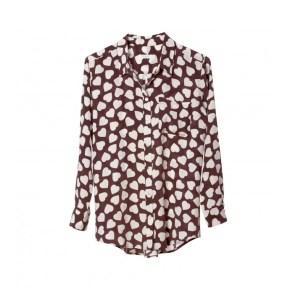 Equipment Silk Heart-Print Blouse: Retail ($228)