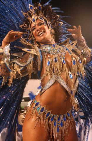 The Rio Carnival Parade at the Sambadrome, Rio de Janeiro, Brazi