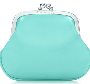Tiffany & Co Coin Purse in Blue Patent Leather $75