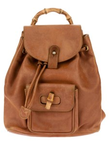 Vintage Gucci leather backpack, www.farfetch.com, $917.89