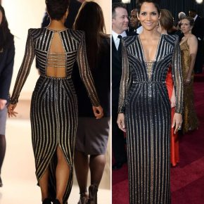 Halle Berry in Versace at the 2013 Academy Awards
