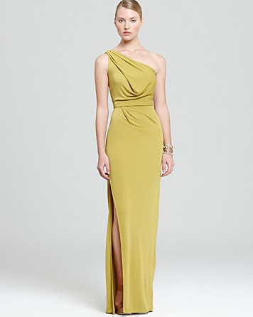 BCBG MAXAZRIA One Shoulder Gown $298