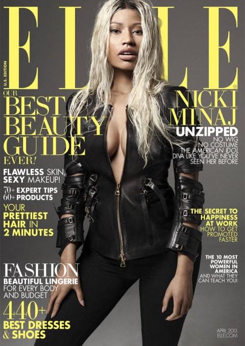 Nicki Minaj in Tom Ford for Elle (Photo Credit: Elle.com)