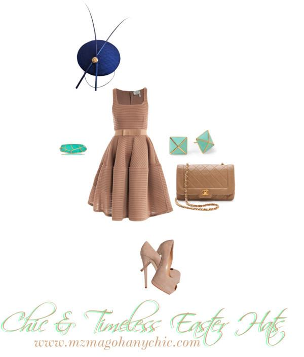 Chic and Timeless Easter Hats Polyvore Set