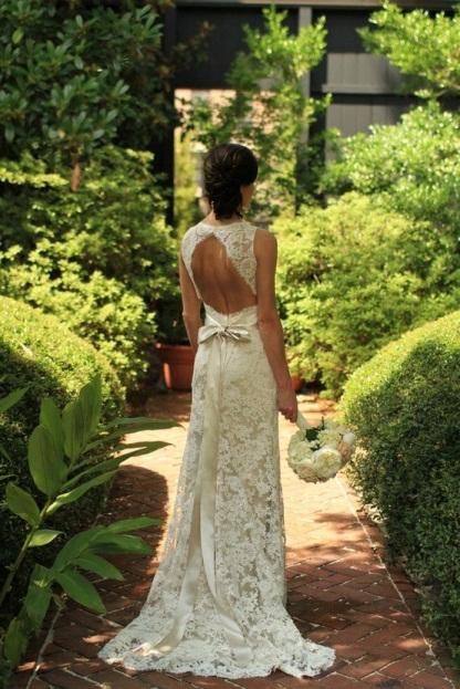 Key Hole Wedding Gown