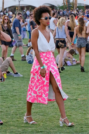 Solange pink coachella