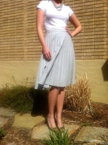 Blue flowy skirt photo credit: office pretty
