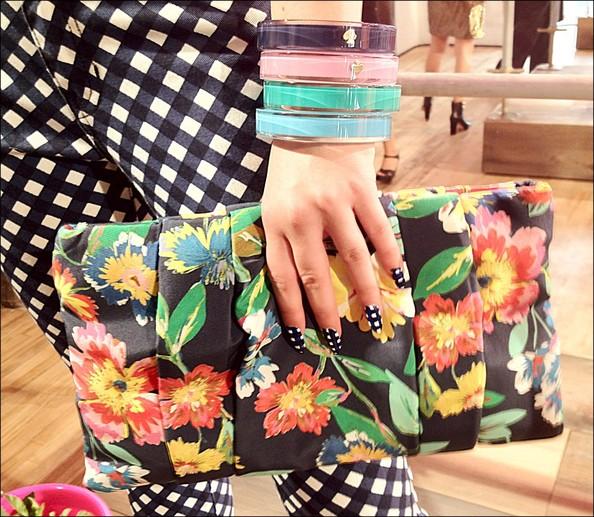 Kate Spade Gingham nails and pants
