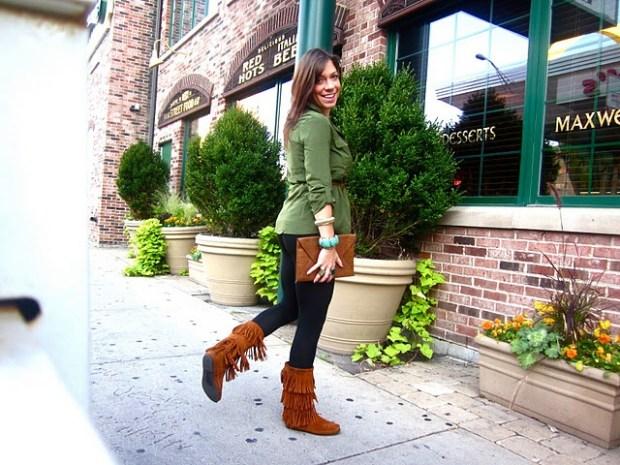 Hallie Fringe Boots