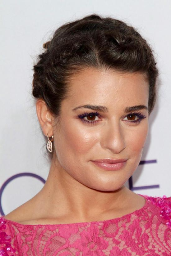 Lea Michelle wearing purple eyeliner. Image from Gather.