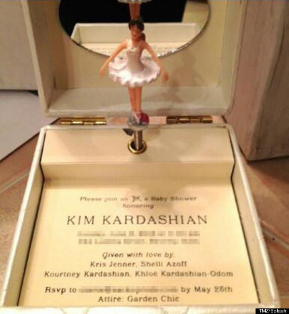 Kim Kardashian Baby Shower Invite (Photo: X17)