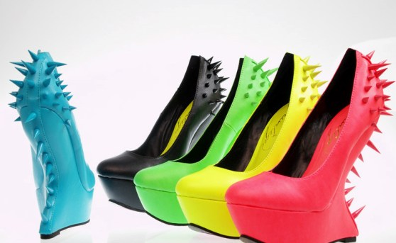 http://www.ebay.com/itm/New-Spiked-High-Heel-Less-Round-Toe-Platform-Wedge-Curved-Neon-Sexy-Women-Shoes-/271088545449