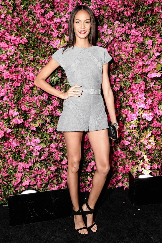 Joan Smalls wearing a Chanel romper