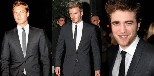 Three men each wearing a necktie