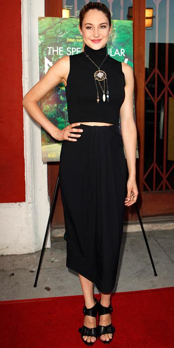 Shailene Woodley wearing Proenza Schouler