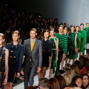 Models at the end of Michael Kors show