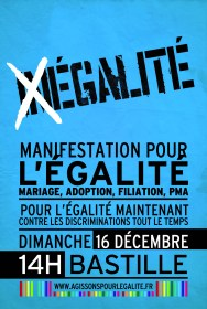 French gay rights protest flier 2