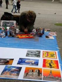 Street artist, Pompidou Center 2