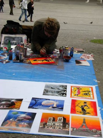 Street artist, Pompidou Center 2