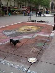 Street artist, Pompidou Center