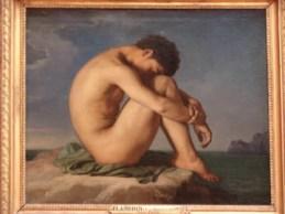 Jeune Homme Nu Assis au Bord de la Mer, by Jean Hippolyte-Flandrin