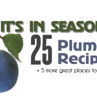 It's In Season: 25 Plum Recipes